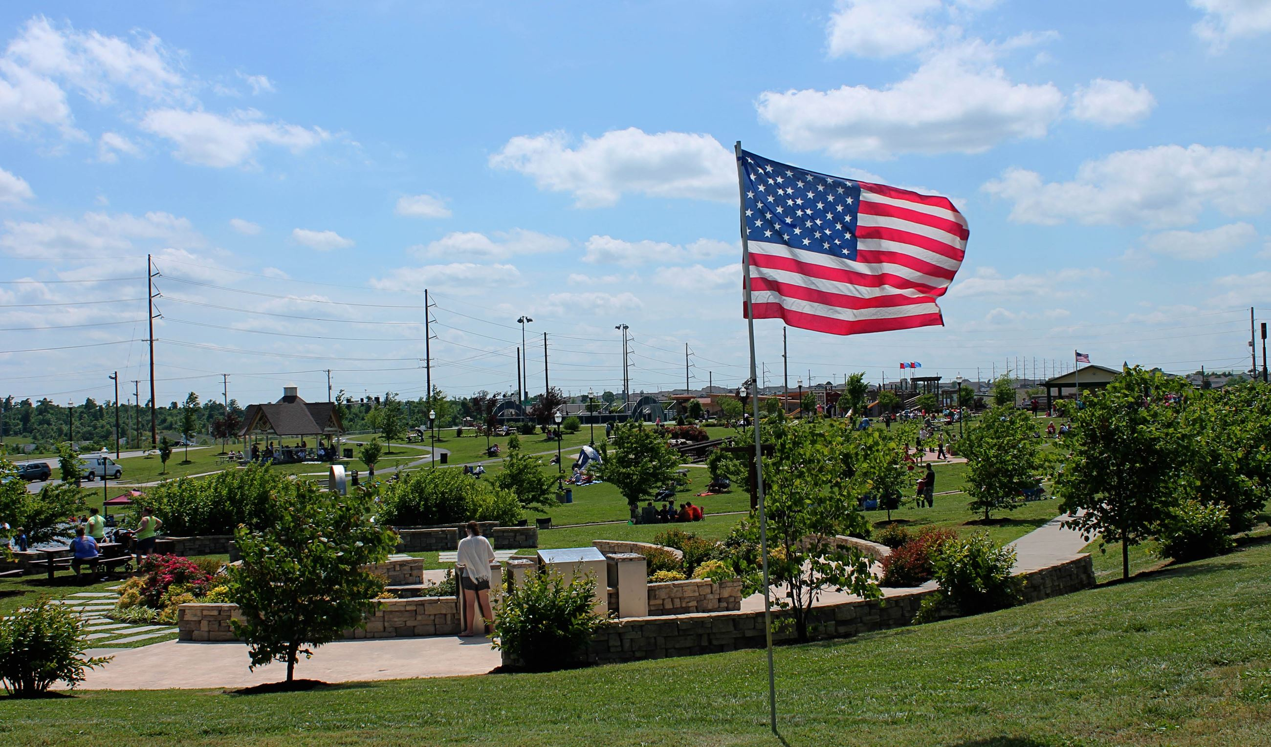 Cunningham Park Flag Photo