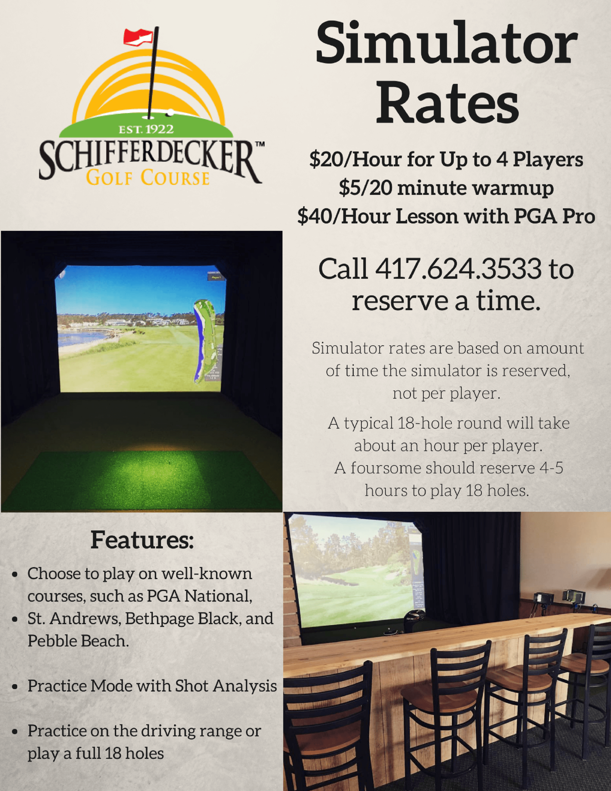 Indoor Golf Simulator Information