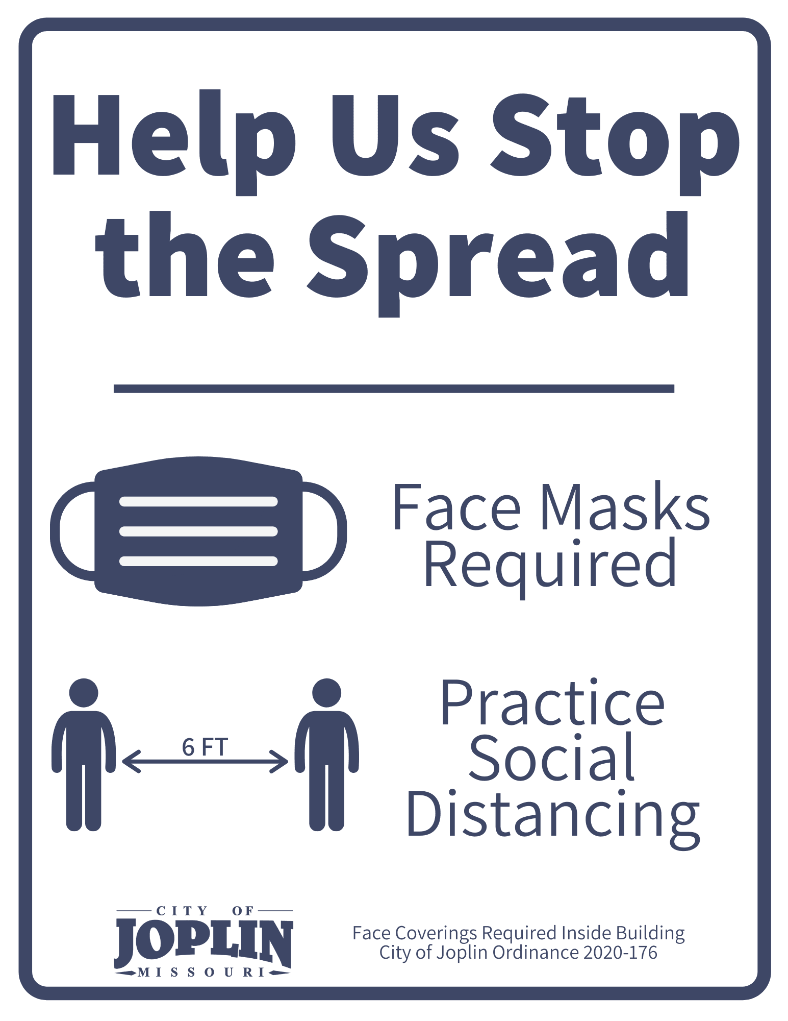 Face Covering and Distance Reminder Sign