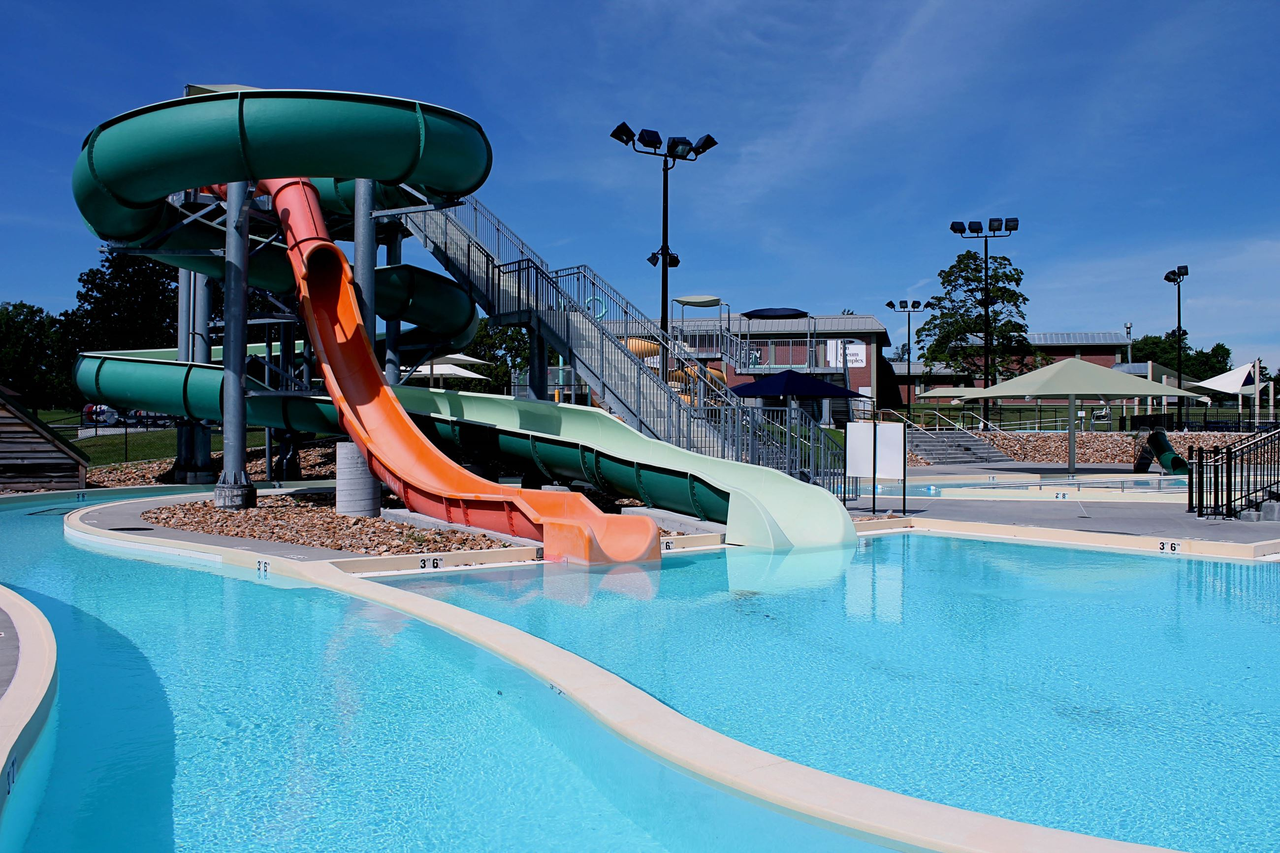 Schifferdecker Aquatic Center Large Slides