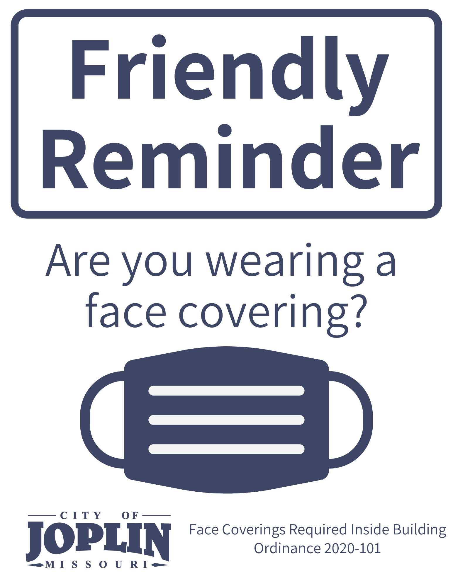 Downloadable Face Covering Sign Option 1