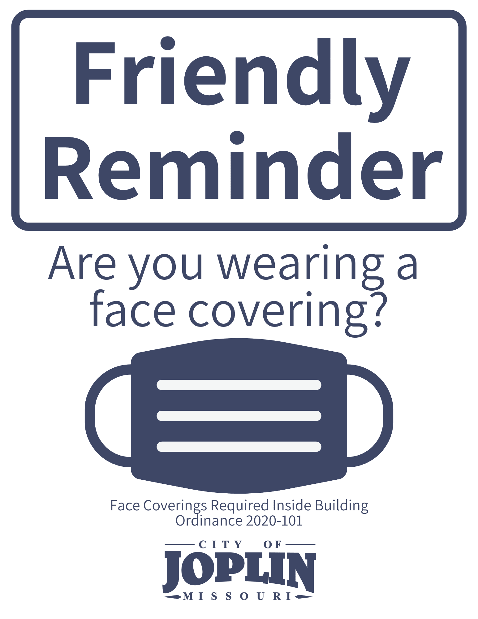 Downloadable Face Covering Sign Option 2